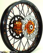 """KTM,Motocross,Complete Wheel set Combo,21/19"""",WARP9 Racing, Black/Orange,"""