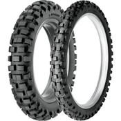 Dunlop D606 Tire Combo Dual Sport DOT tires,Full Knobby