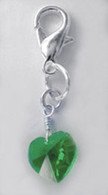 Emerald Swarovski Heart Charm
