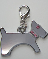 Pink Crystal Dog collar charm