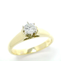 Bluefire 144 Diamond - 18K Yellow gold ring (B65)
