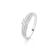 Bluefire 144 Diamond - Alison collection - 18K white gold ring