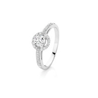 Bluefire 144 Diamond - Olivia collection - 18K white gold ring (B109)