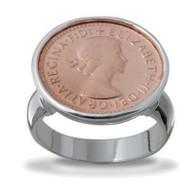 Von Treskow Threepence Coin ring