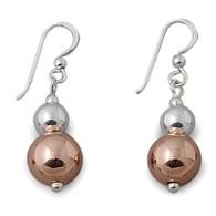 Von Treskow Sterling Silver Double Ball Hook Earrings