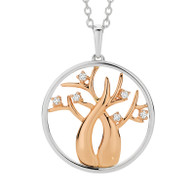 Argyle Diamond Boab Tree of Life pendant with chain.