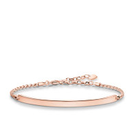 THOMAS SABO Love Bridge Glam 18ct Rose Gold Plated Bracelet