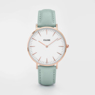 CLUSE La Boheme Rose Gold White/Pastel Mint Watch