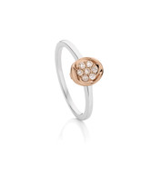 Dreamtime Australian Diamonds White and Rose Gold Oval Diamond Ring