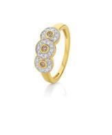 Dreamtime Australian Diamonds Halo Trilogy Ring