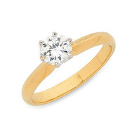 18ct Yellow Gold 1.00ct Solitaire ring