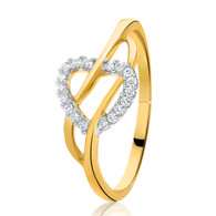 9ct Diamond Heart Ring