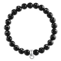 Charm Bracelet Black Obsidian (16.5cm - medium)