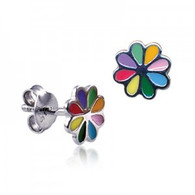 Multi Colour Flower Stud Earrings