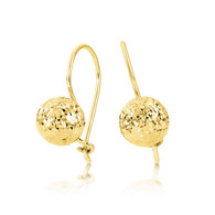 Diamond cut euroball earrings