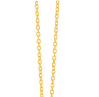 9ct yellow gold cable chain