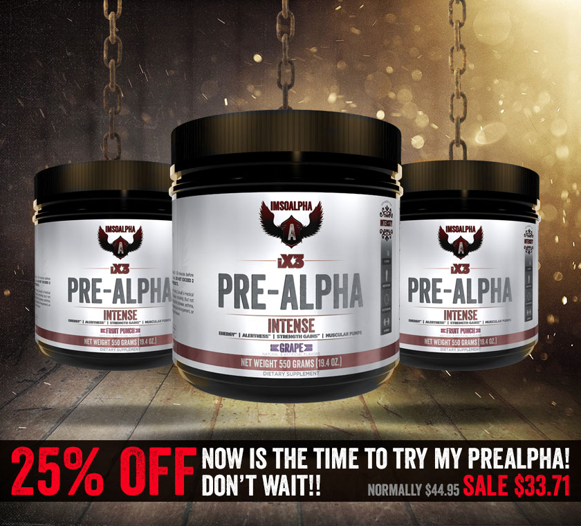 ImSoAlpha PRE-ALPHA 25% OFF