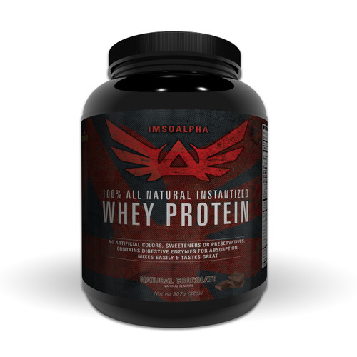 Natural Whey Protein - Chocolate Flavored - ImSoAlpha.com