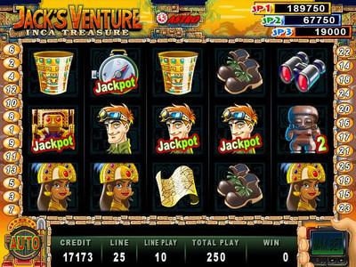 Jack's Venture Main Game 25-Liner