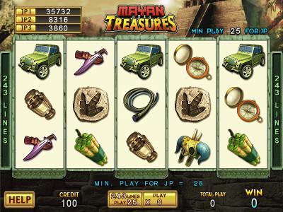 Mayan Treasures Main Game 1