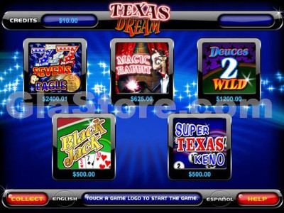 Texas Dream Main Menu