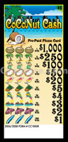 Coconut Cash (1000) Pre-Paid Phone Card Pull Tabs