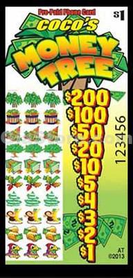 Money Tree Pre-Paid Phone Card Pull Tabs