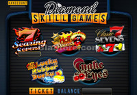 Diamond Skill Games Main Screen