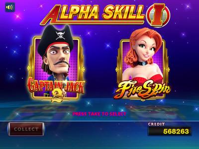 Alpha Skill I Main Screen