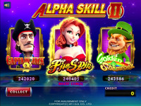Alpha Skill II Game Menu