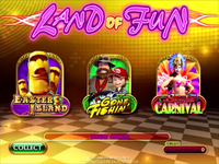 Land of Fun Main Screen Choose Game