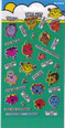 Little Miss fun foiled stickers reusable over 30 pieces