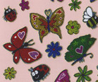 Butterflies, Bees, Ladybirds sparkly glitter stickers