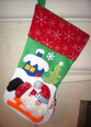 Father Christmas Santa on a sleigh Christmas Stocking