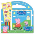 Peppa Pig Activity Fun Pack stickers, 5 colouring pencils, colouring pad