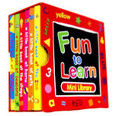 Fun to Learn mini Library set 6 board books holidays seasons shops home pets zoo