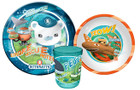 Octonauts Mealtime Set: Plate Bowl Beaker - Kwazi, Peso and Captain Barnacles