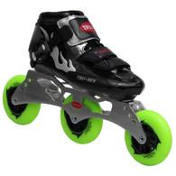TruRev's Flash Fire Series: Silver Kid's Speed Skate Package