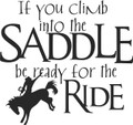 Wall Decals and Stickers -- If you climb into the saddle be ready for the ride