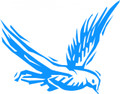 Wall Decals and Stickers - Blue bird flying