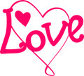 Wall Decals and Stickers - Love and hearts