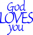 Wall Decals and Stickers - God loves you