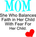 Wall Decals and Stickers - Mom she who balances faith in her..