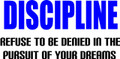 Wall Decals and Stickers - Discipline: refuse to be denied in the..