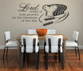 Wall Decals and Stickers – Lord, make us truly grateful for the blessings of this day