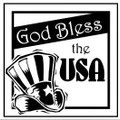 Wall Decals and Stickers-God bless the USA 