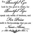 Wall Decals and Stickers-For beautiful eyes