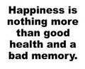 Wall Decals and Stickers -- Happiness is nothing more than good health and a bad memory
