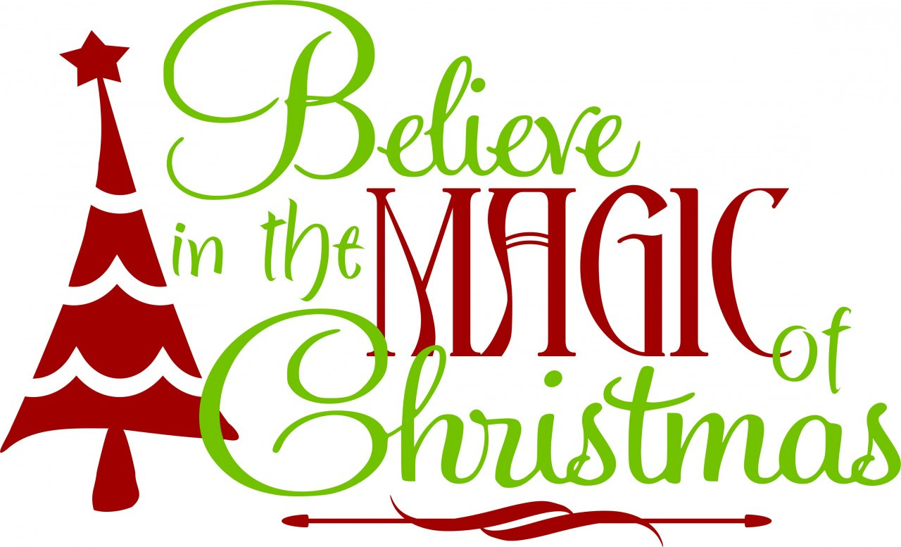 Wall Decals and Stickers -- Christmas (believe in magic)
