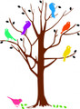 Removable Wall Decals -Birds in a Tree